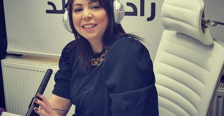 The radio anchor, Rawan Jayyousi